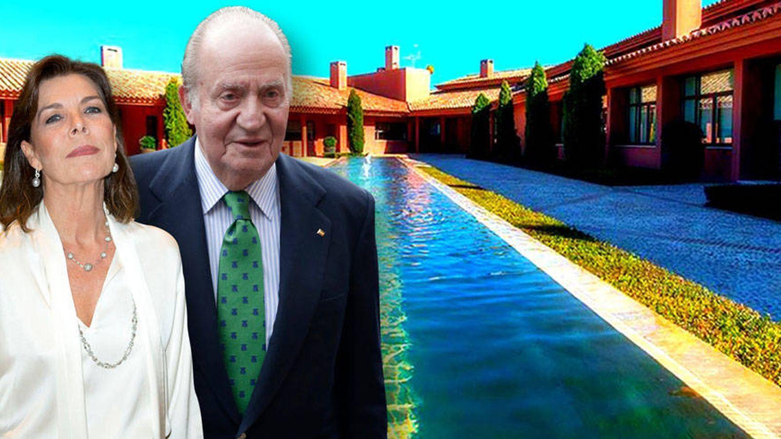 Foto: Carolina de Mónaco y don Juan Carlos, en un fotomontaje elaborado por Vanitatis.