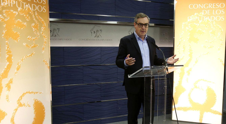 José Manuel Villegas comparece tras su encuentro con dirigentes del PP. (EFE)
