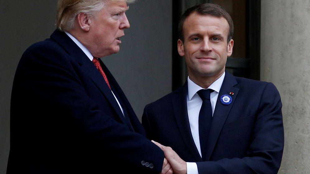 Foto: Donald Trump y Emmanuel Macron. (Reuters)