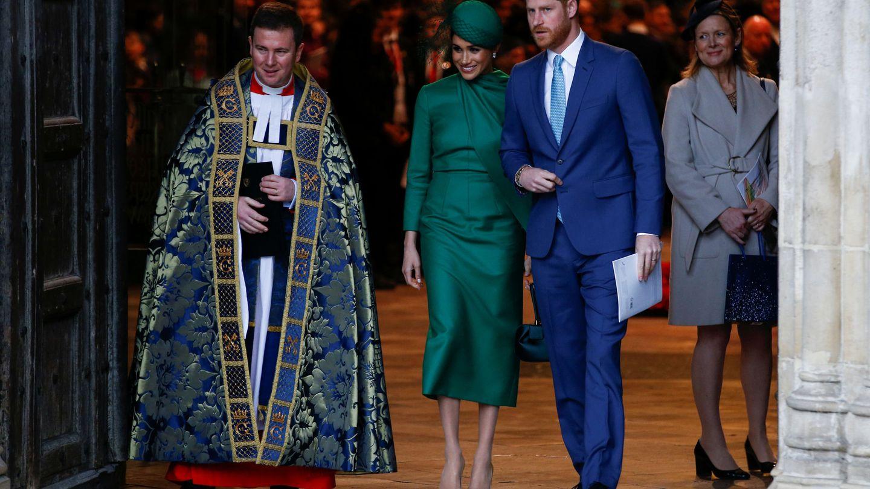 Los duques de Sussex, en su último compromiso oficial. (Reuters)