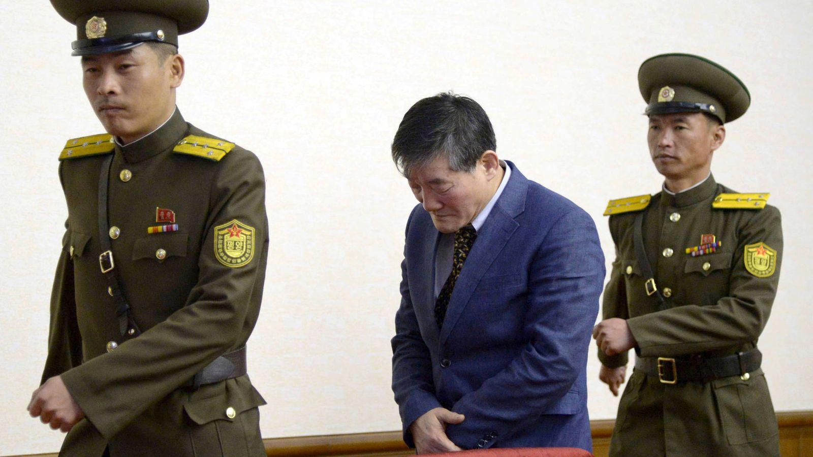 Foto:  Kim Dong-chul, uno de los prisioneros liberados, en una foto de archivo en Pyongyang, en marzo de 2016. (Reuters)