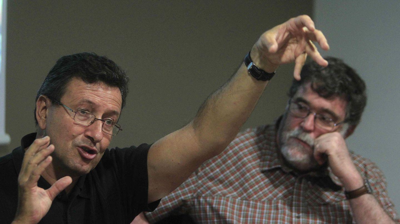 Carlos Duarte, en 2014, junto al investigador del CSIC Josep M. Gasol, durante la presentación de los resultados de la expedición Malaspina. (EFE)