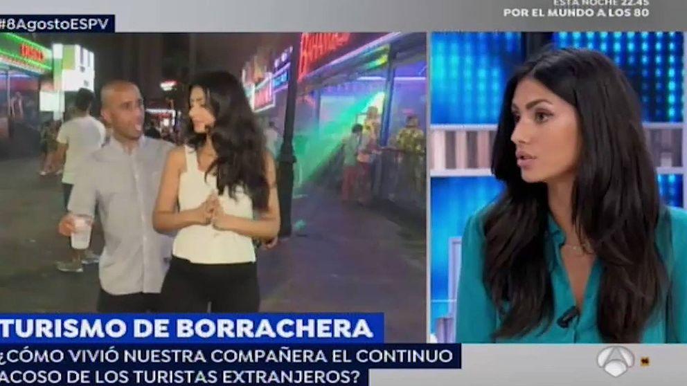 Una reportera de 'Espejo Público', acosada mientras trabajaba en Benidorm