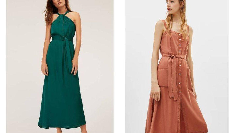 Apostar por vestidos monocolor siempre es una acierto.
