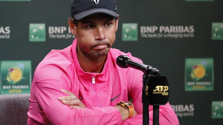 La tristeza de Rafa Nadal por la cancelación de Indian Wells por el coronavirus