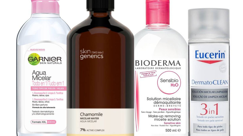 Limpiadores tipo agua micelar que respetan el pH de la piel.