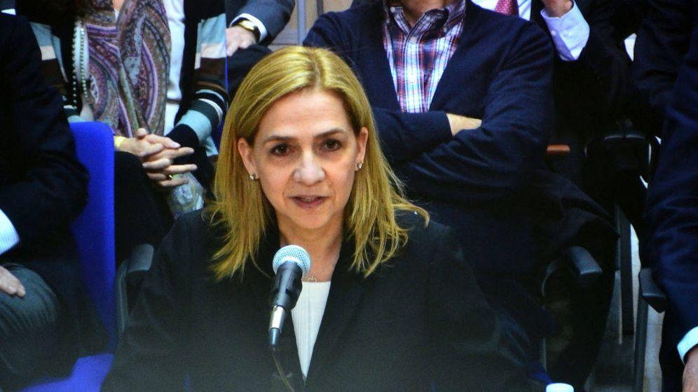 Foto: La infanta Cristina, declarando por el caso Nóos.
