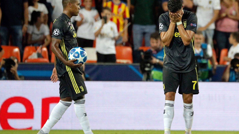Cristiano Ronaldo en plena emoción. (EFE)