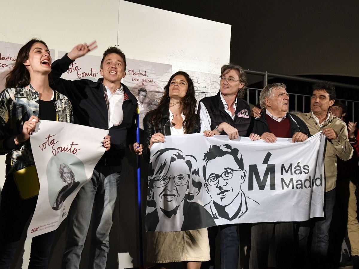 Foto: Los candidatos municipales y autonómicos de Más Madrid, durante el arranque de la campaña electoral en los comicios del pasado año. (EFE)