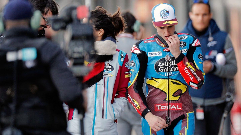 El campeón del mundo de Moto2, Álex Márquez, tras la caída. (EFE)