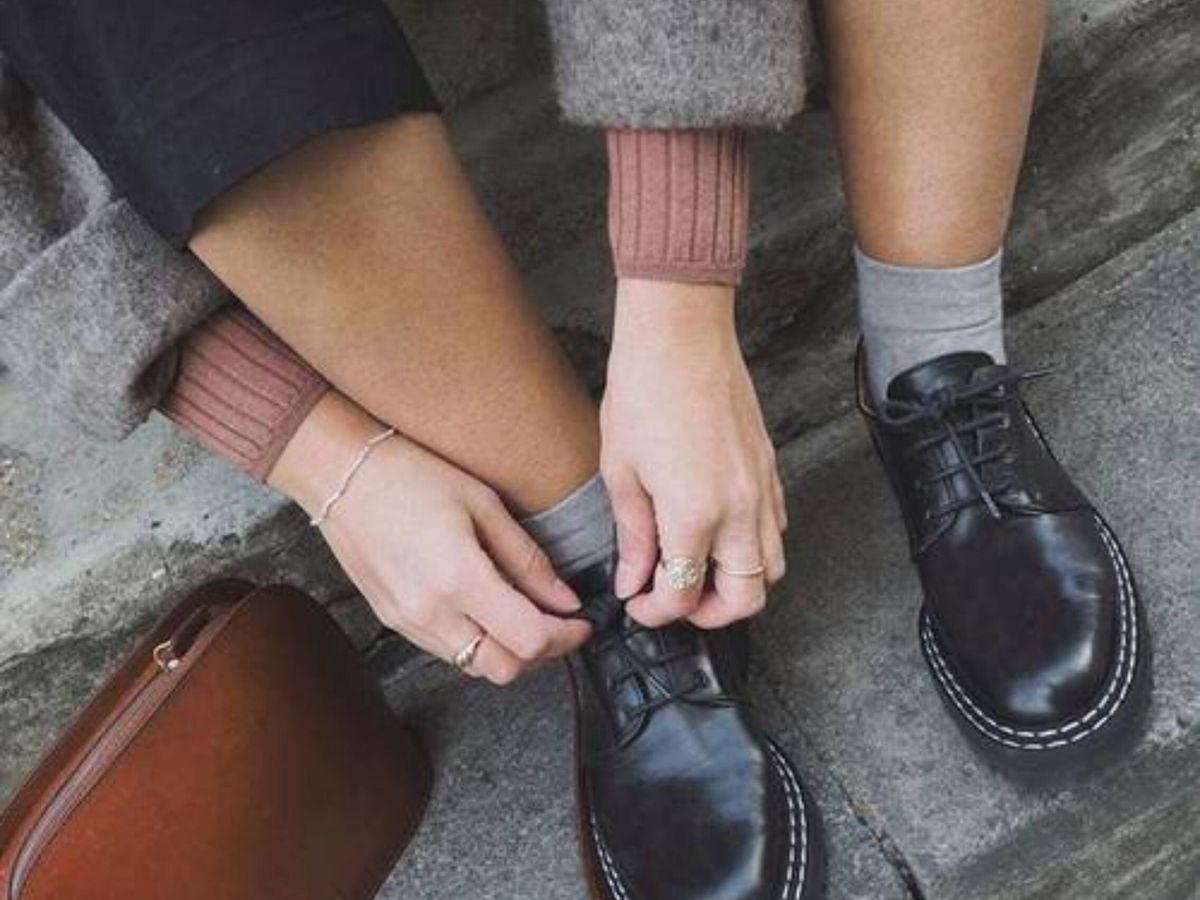Foto: Así son los zapatos planos de tendencia. (Instagram @bubblyaquarius)