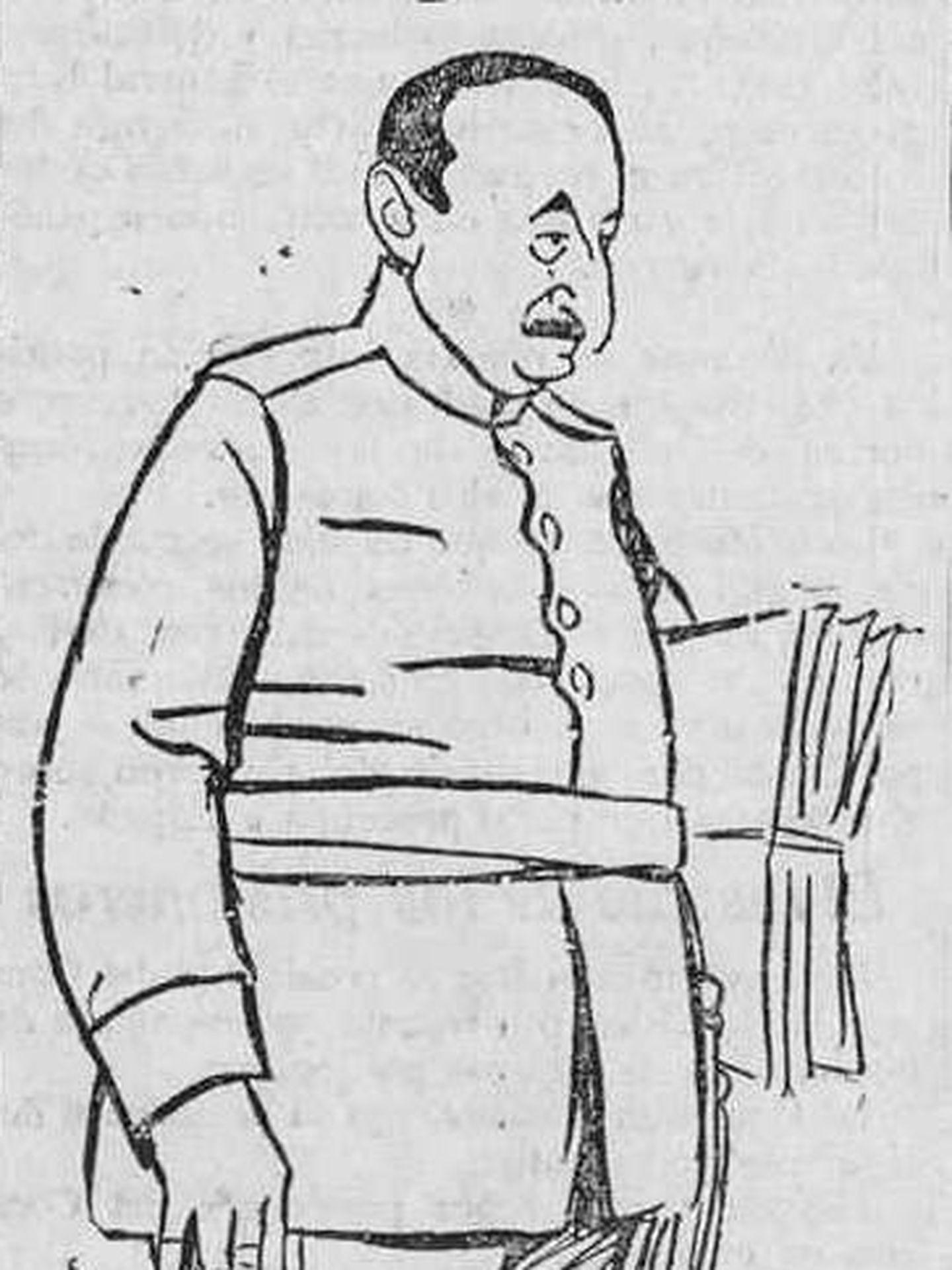 Caricatura de Juan Picasso de 1922. (Wikipedia)
