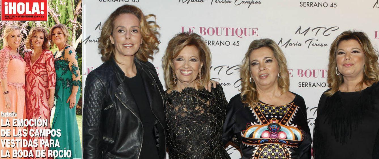 Foto: Las Campos junto a Rocío Carrasco