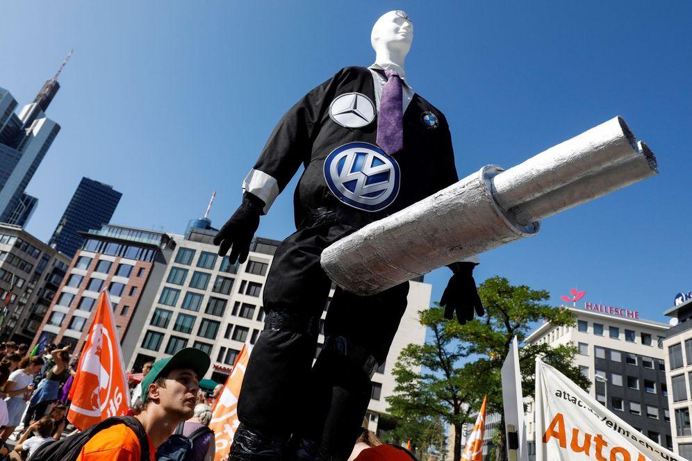 Foto: Protesta contra el cambio climático en Fráncfort. (EFE)