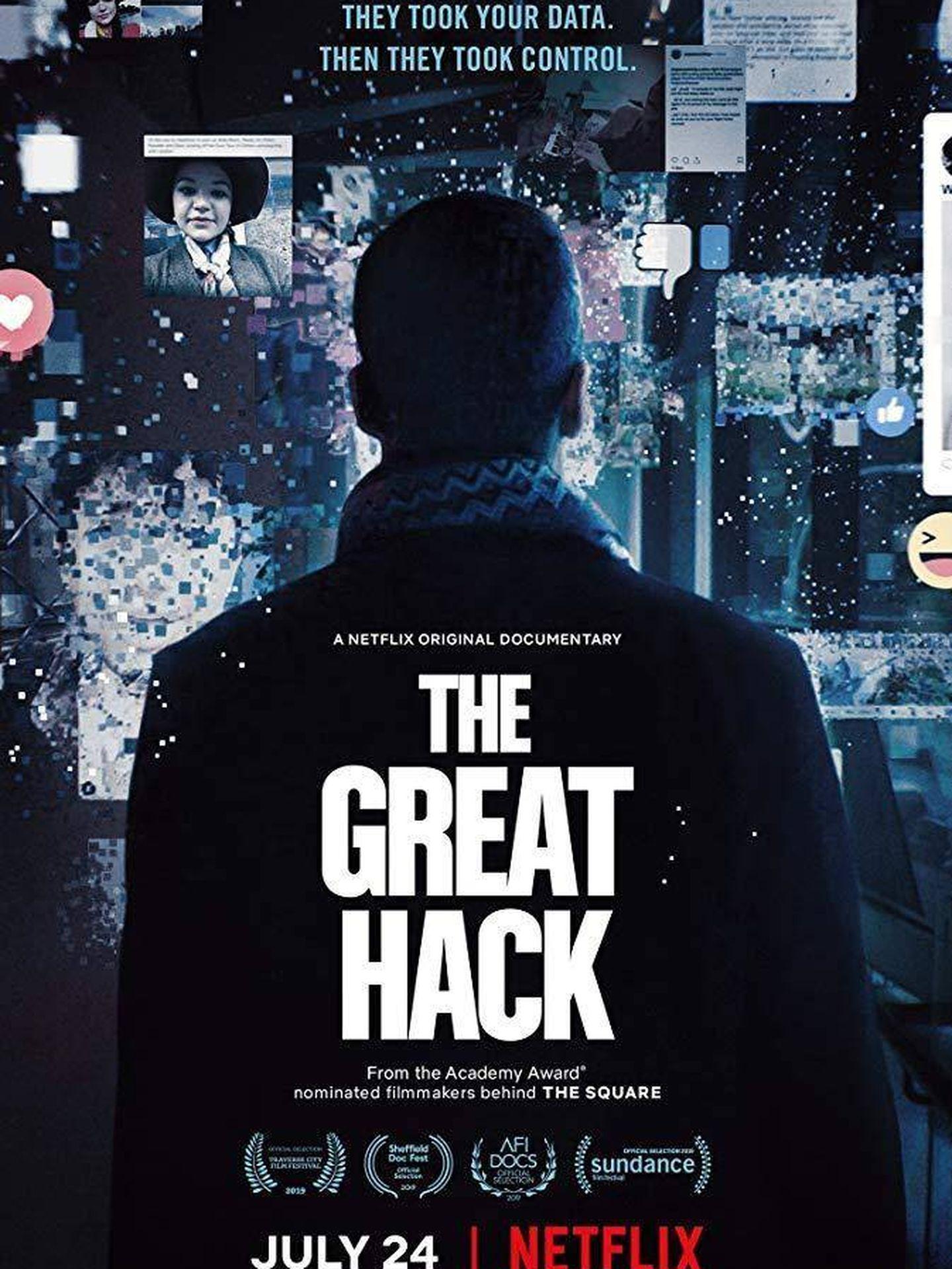 Cartel de 'El gran hackeo'. (Netflix)