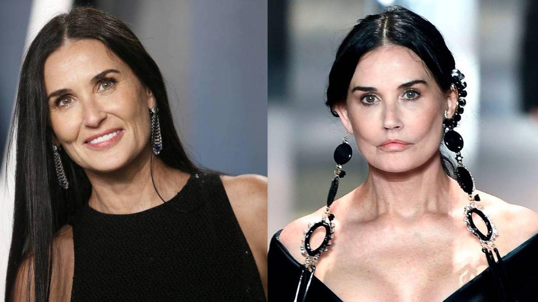 Demi Moore, antes y después. (Getty/Fendi)