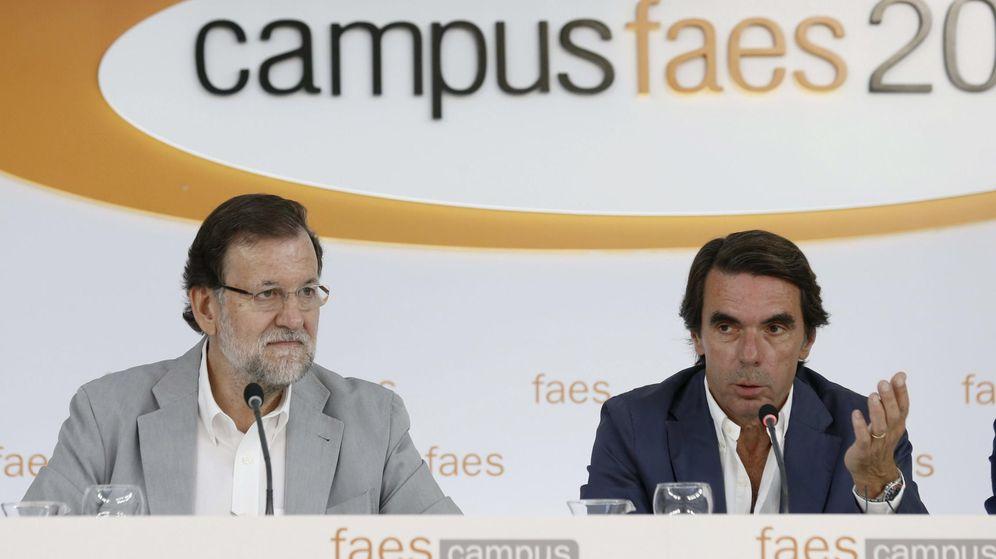 Foto: Último campus de FAES, con Rajoy y Aznar en su acto de clausura. (EFE)