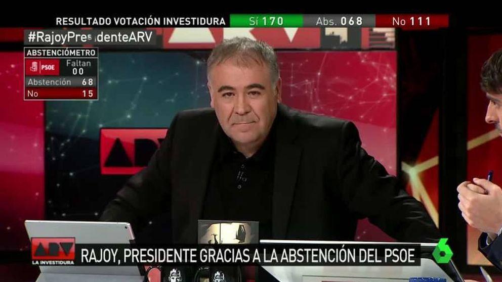 'Al rojo vivo' (13%) se impone al resto de cadenas con la investidura de Rajoy