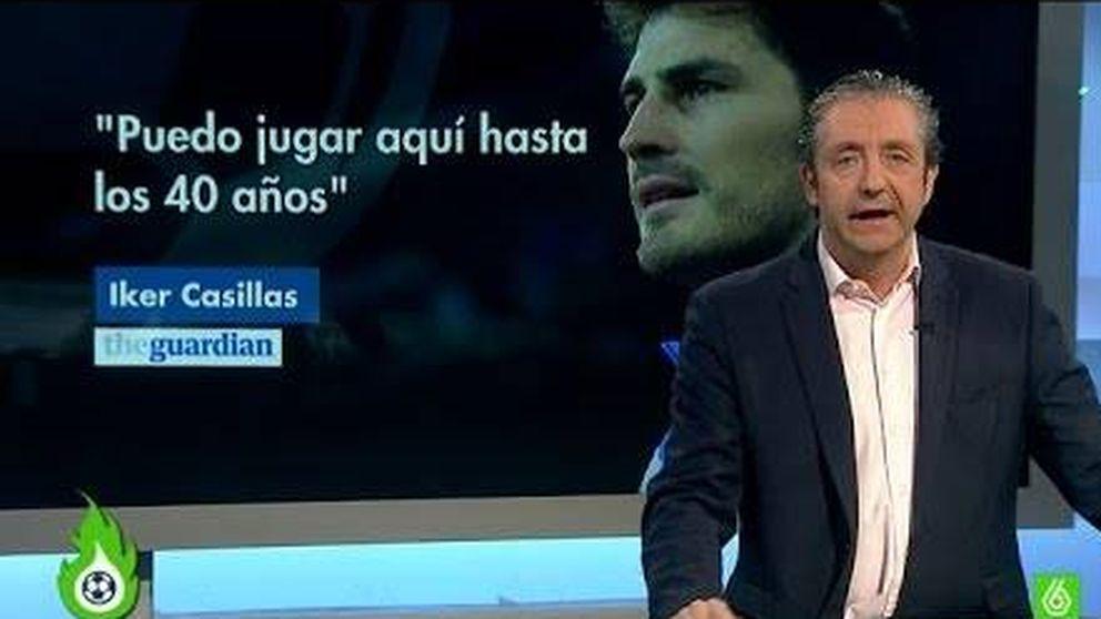 Iker Casillas atiza a Josep Pedrerol y lo caricaturiza de Doña Rogelia