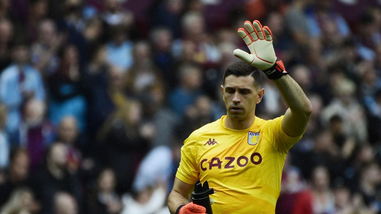 Emiliano Martínez, portero del Aston Villa. (Reuters)