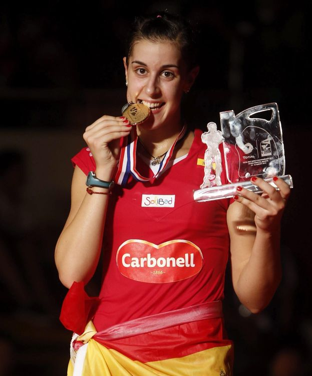 Foto: Carolina Marín ya es una leyenda del deporte.
