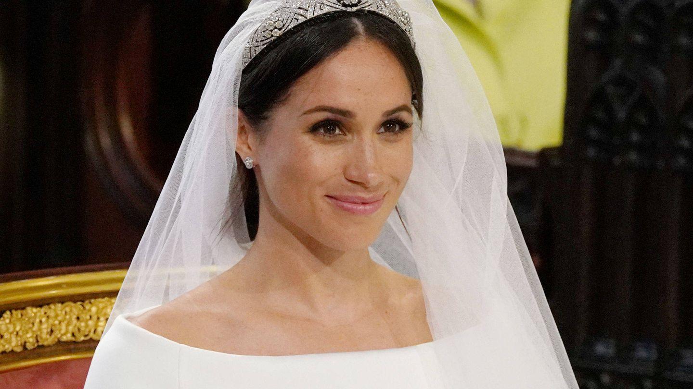 Meghan Markle en su boda. (Reuters)