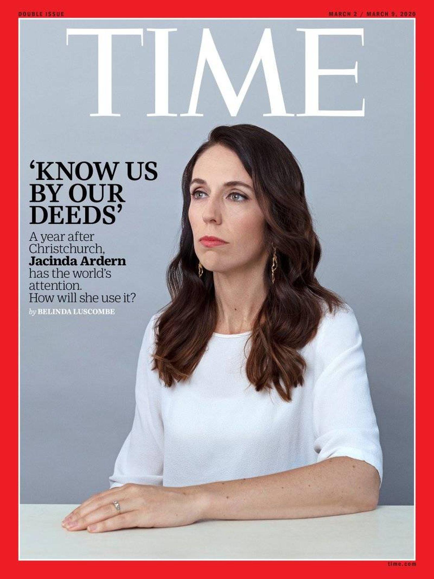 Portada de la revista Time, con Jacinda como protagonista