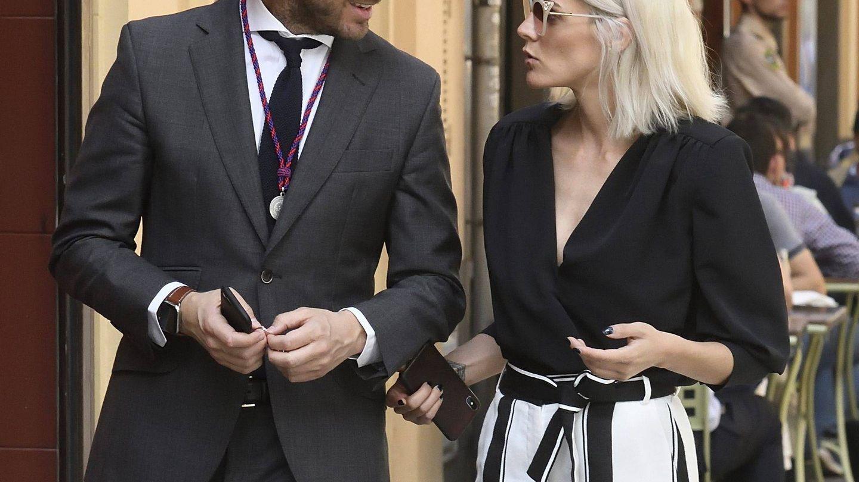 Amaia Salamanca junto a Rosauro Varo. (Getty)