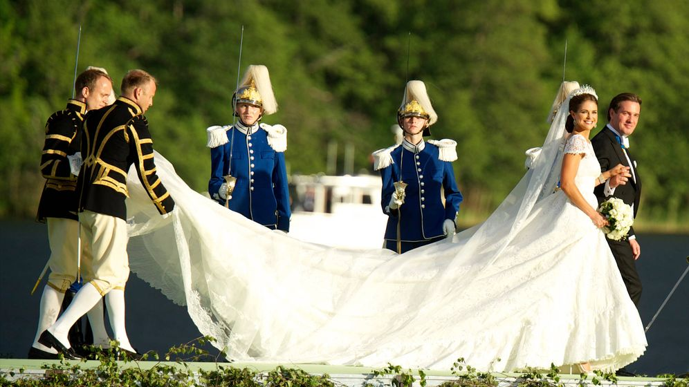 Vestido de la novia boda real