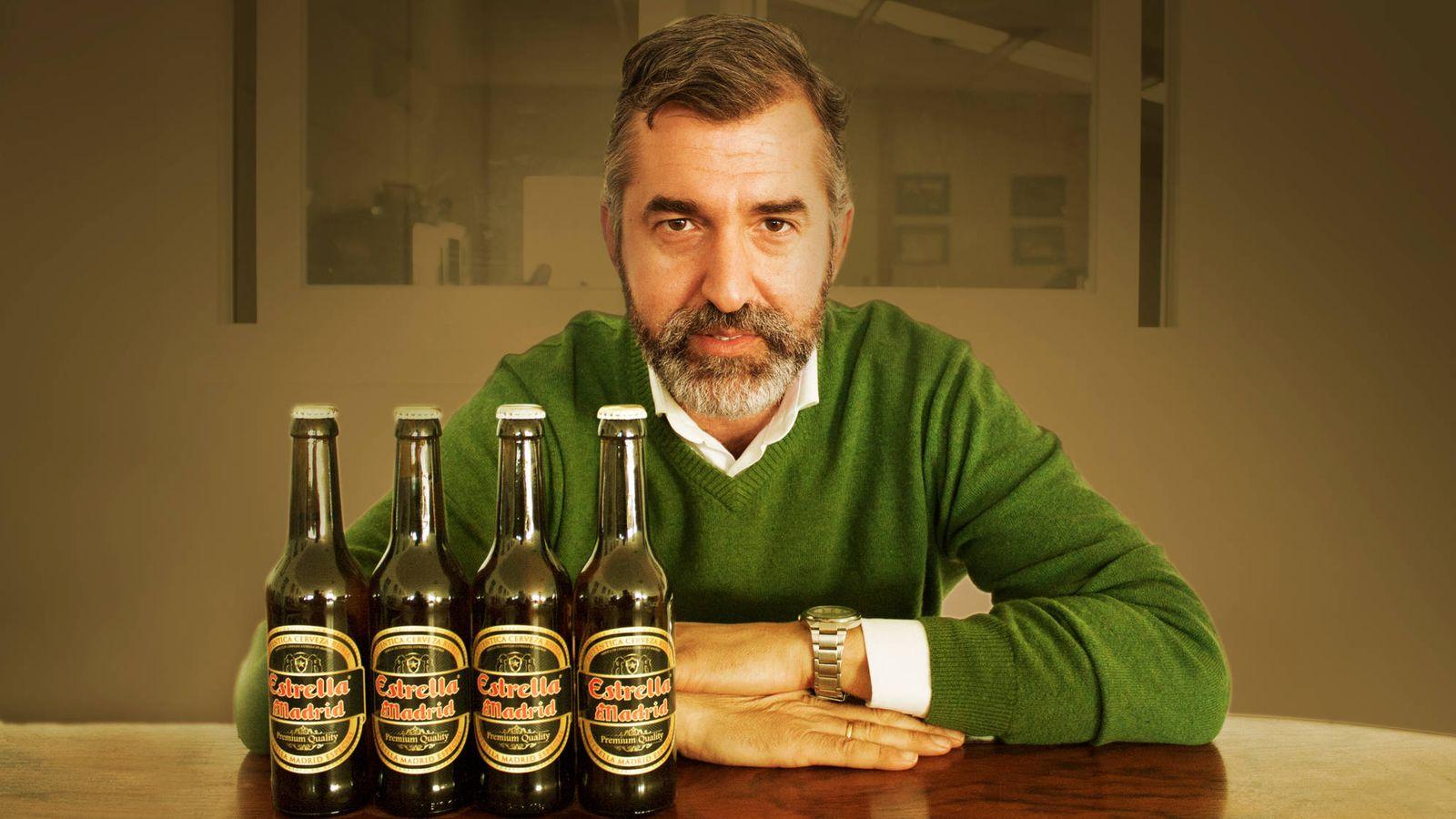 Foto: Jorge Pinto, fundador de Estrella de Madrid, el hombre que desafía a las grandes cerveceras. (R. M.)
