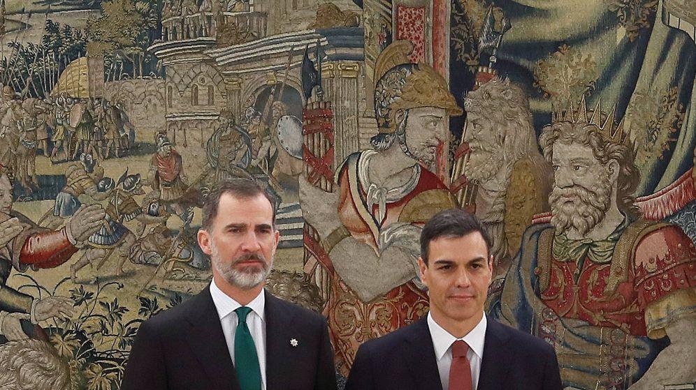 Foto:  Felipe VI y Pedro Sánchez, en el Palacio de la Zarzuela. (Limited Pictures-Pool)