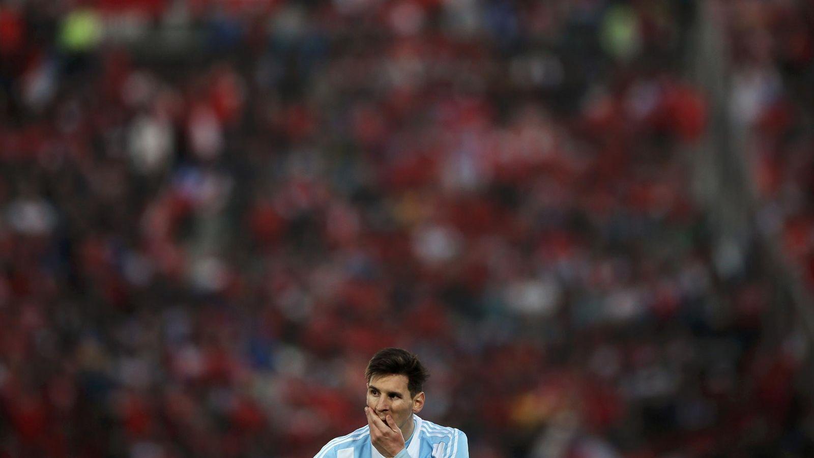 Foto: Messi está hundido tras no ganar la Copa América (Reuters)