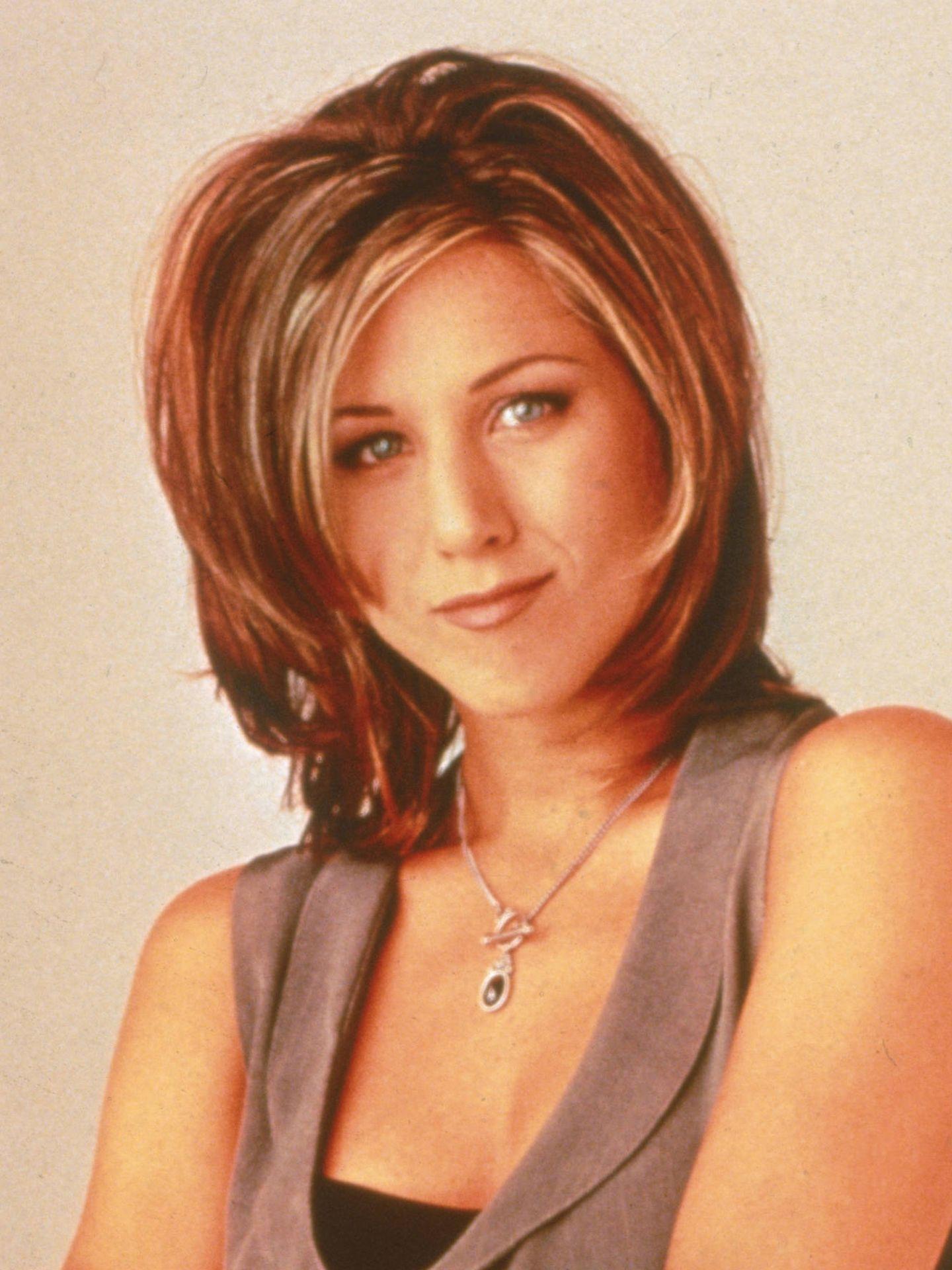 Jennifer Aniston, en una sesión de fotos para 'Friends' en 1995 (Getty)