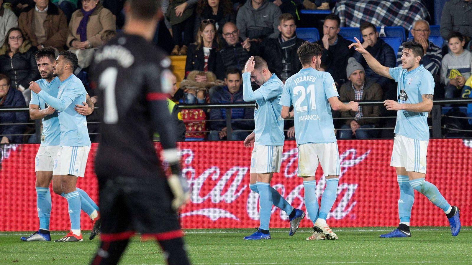 Foto: Jugadores del Celta celebran un gol. (EFE)