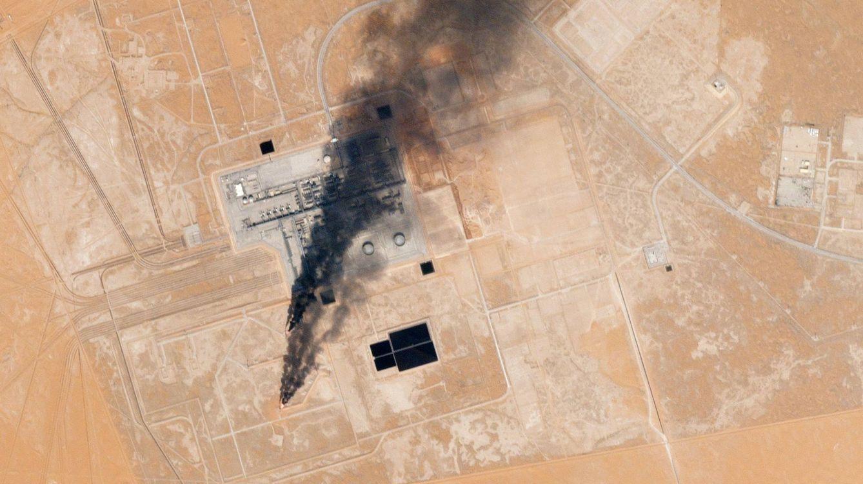 Foto: Planta de procesamiento de petróleo de Khurais, Arabia Saudía. (Foto: Planet Labs)