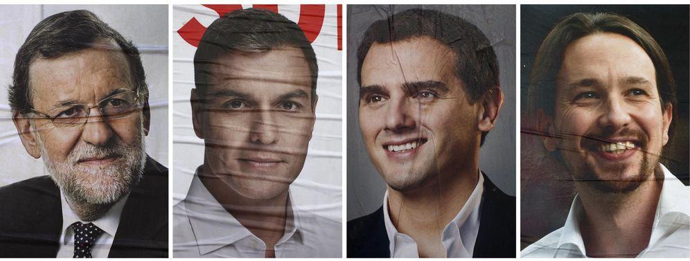 Foto: Combo de fotografías de los candidatos a la Presidencia del Gobierno Mariano Rajoy, Pedro Sánchez, Albert Rivera y Pablo Iglesias. (Reuters)