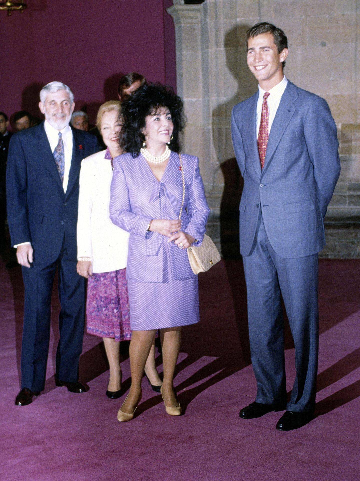 La actriz, junto al entonces príncipe Felipe (Gtres)