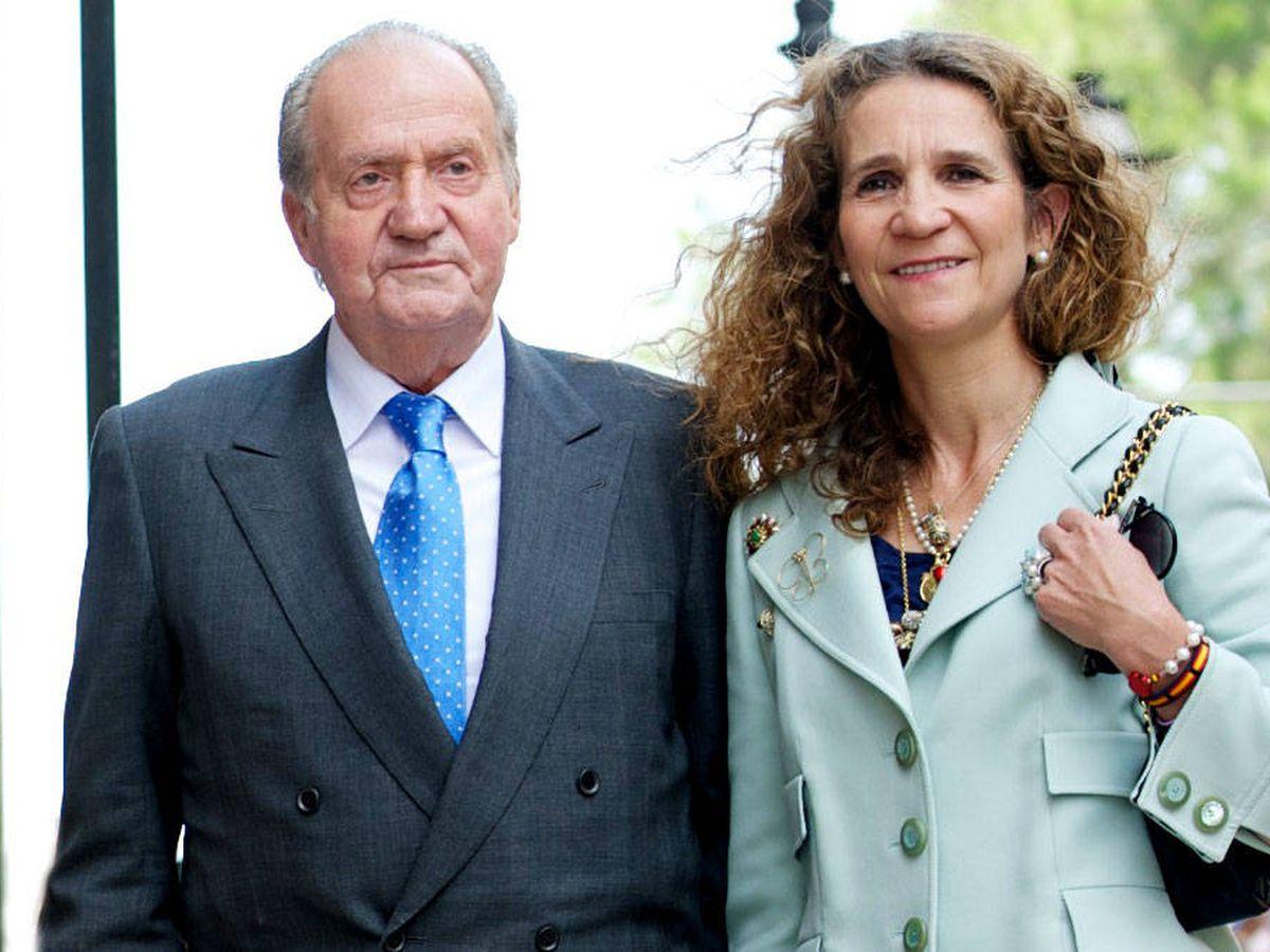 Foto: El Rey emérito y la infanta Elena. (Getty)