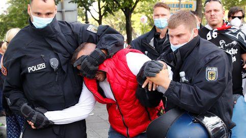 La manifestación que niega el covid en Alemania acaba con 300 detenidos