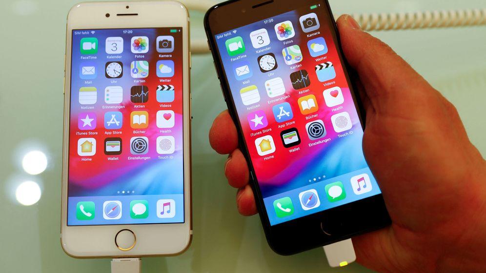 Foto: iPhone 7 y iPhone 8. Foto: REUTERS Fabrizio Bensch