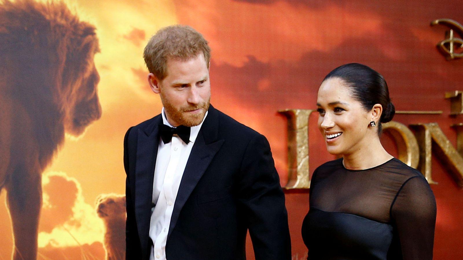 Foto: Meghan y Harry en el estreno de 'El Rey León' en Londres. (Reuters)