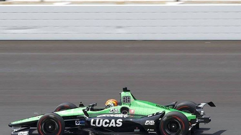 Foto: Oriol Servià en acción en las 500 Millas de Indianápolis.(Team Stange Racing)