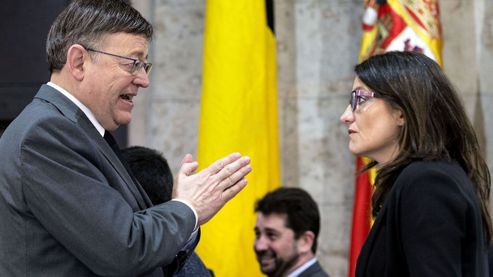 Foto: El president de la Generalitat, Ximo Puig, junto a la vicepresidenta Mónica Oltra. (EFE)