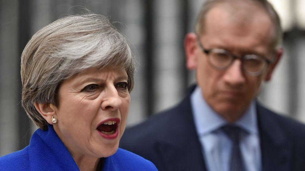 Foto: Theresa May se dirige al país en Downing Street. (Reuters)