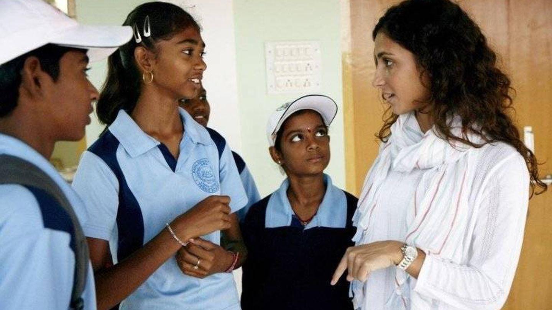 Mery Perelló, en la India en un proyecto de la Fundación Rafa Nadal. (Linkedin)