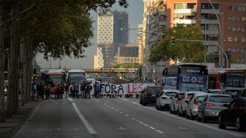 Consulta las calles cortadas al tráfico en la huelga catalana