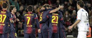 Villa hace su gol 300 y el Barcelona se planta en octavos a costa del Alavés
