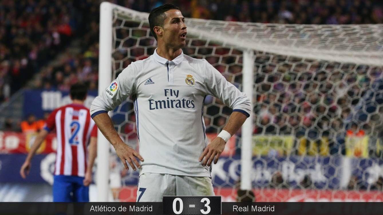 Foto: Cristiano Ronaldo celebra su tercer gol (Sergio Pérez/Reuters)