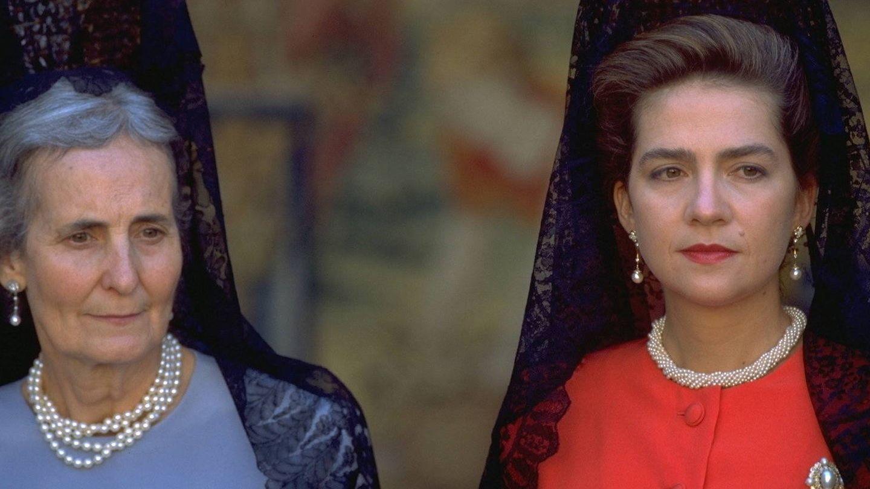 La infanta Cristina y la madre de Jaime de Marichalar.