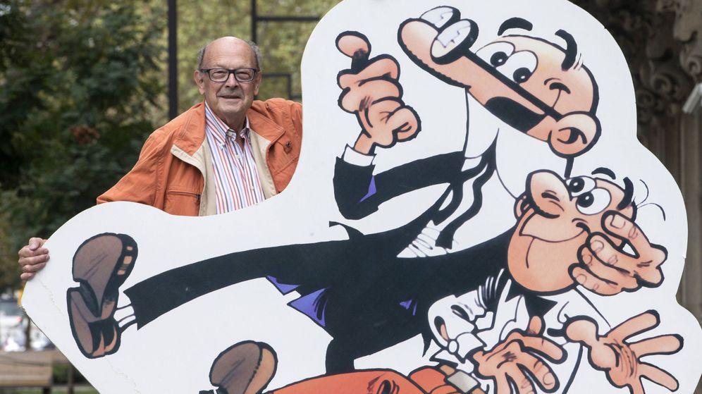Foto: Francisco Ibáñez, durante la presentación en 2016 de su última entrega de 'Mortadelo y Filemón', la serie estrella de cómics de Ediciones B. (EFE)